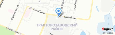 Альпина на карте Челябинска