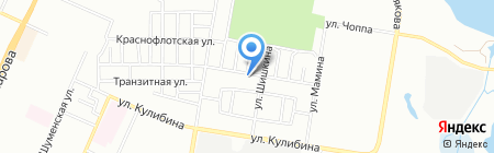 Пальметта на карте Челябинска