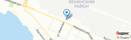 Продуктовый магазин на Новороссийской на карте Челябинска