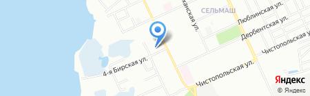Детский сад №29 на карте Челябинска