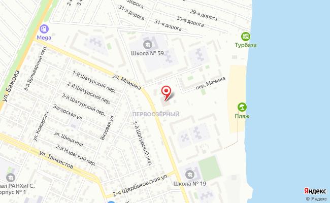 Карта расположения пункта доставки Челябинск Мамина в городе Челябинск