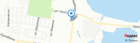 Золотые ножницы на карте Челябинска