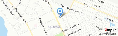 У Дачный на карте Челябинска