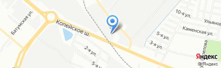Роса-Эмпрэс на карте Челябинска