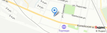 САНАТА на карте Челябинска