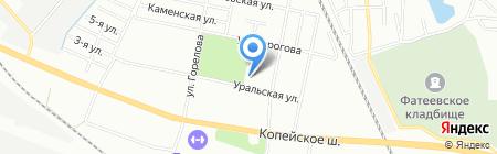 Лад на карте Челябинска