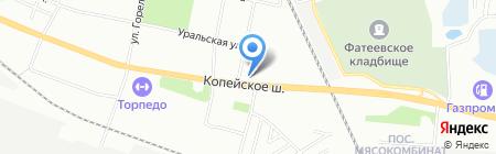 Майби на карте Челябинска