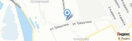 Чурилово на карте Челябинска