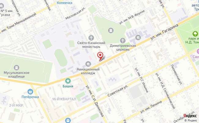 Карта расположения пункта доставки Троицк им Ю.А.Гагарина в городе Троицк