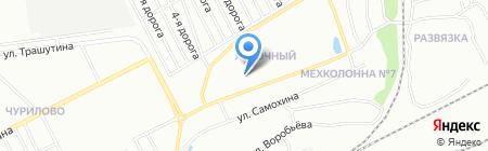 Яблоневый на карте Челябинска