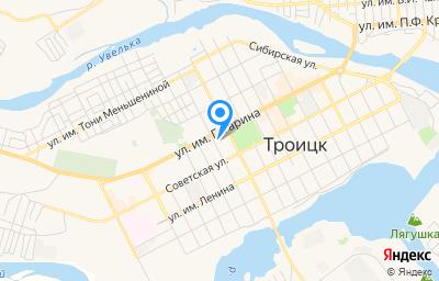 Местоположение на карте пункта техосмотра по адресу Челябинская обл, г Троицк, ул Пионерская, д 52А