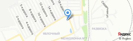 Продуктовый магазин на ул. Конструктора Духова на карте Челябинска
