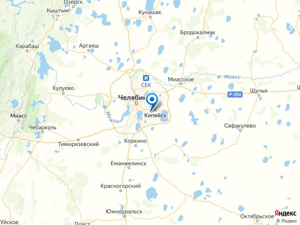 посёлок Железнодорожный на карте