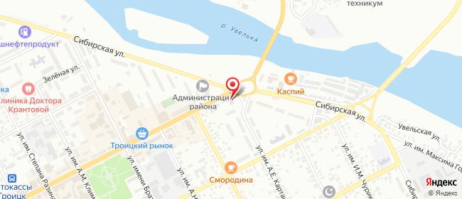 Карта расположения пункта доставки Троицк Гагарина в городе Троицк