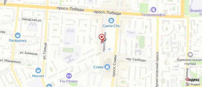 Карта расположения пункта доставки СИТИЛИНК в городе Копейск