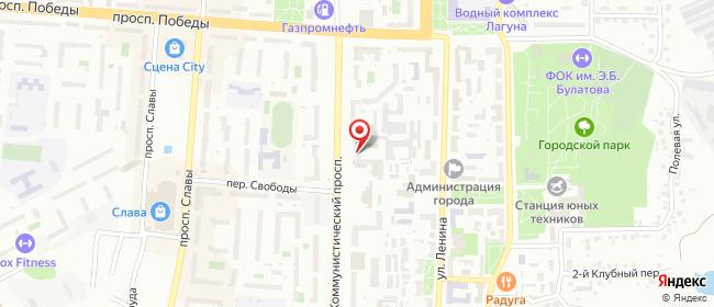 Карта расположения пункта доставки Халва в городе Копейск