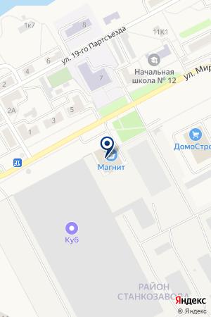 МЕБЕЛЬНЫЙ САЛОН ЯСЕНЬ на карте Алапаевска