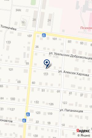 АВТОМОЙКА У АТП на карте Алапаевска