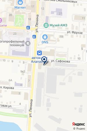 ШТАБ КПРФ (КОММУНИСТИЧЕСКАЯ ПАРТИЯ РФ) на карте Алапаевска