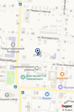 ШКОЛА-ИНТЕРНАТ на карте Алапаевска