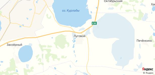 Луговой на карте