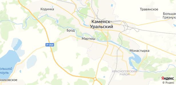 Мартюш на карте