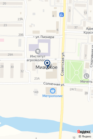 АДМИНИСТРАЦИЯ КОЗЫРЕВСКОГО СЕЛЬСКОГО ПОСЕЛЕНИЯ на карте Миасского