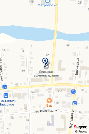 АДМИНИСТРАЦИЯ МИАССКОГО СЕЛЬСКОГО ПОСЕЛЕНИЯ на карте Миасского