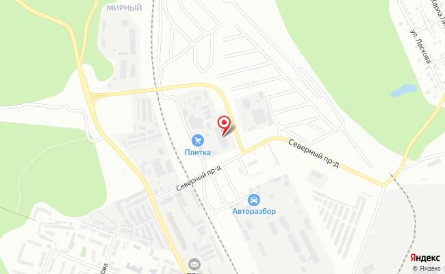 Карта расположения пункта доставки DPD Pickup в городе Каменск-Уральский