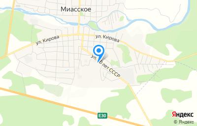 Местоположение на карте пункта техосмотра по адресу Челябинская обл, с Миасское, ул 60 лет СССР, д 22В