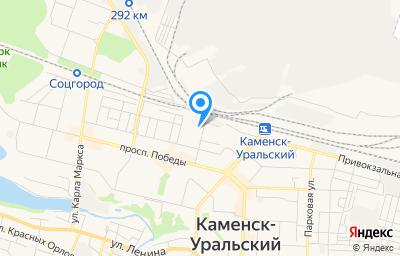 Местоположение на карте пункта техосмотра по адресу Свердловская обл, г Каменск-Уральский, ул Павлова, д 5