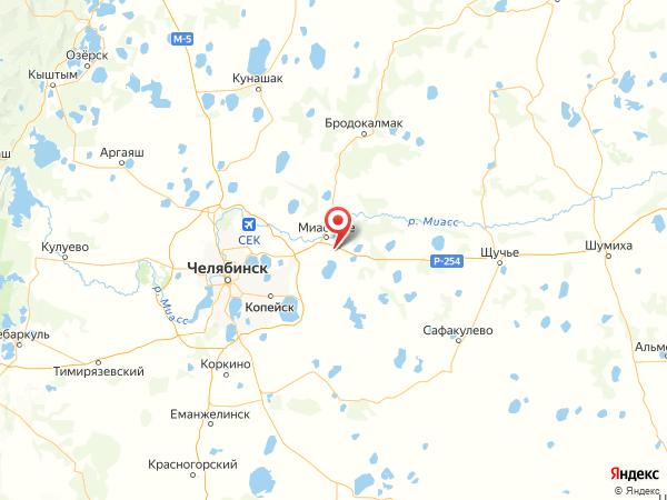 поселок Лесной на карте