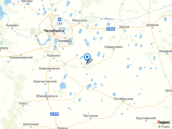 деревня Копытово на карте