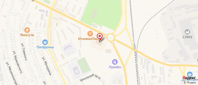 Карта расположения пункта доставки Сухой Лог Белинского в городе Сухой Лог