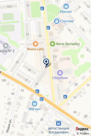 МАГАЗИН МОНЕТКА на карте Богдановича