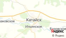 Гостиницы города Катайск на карте