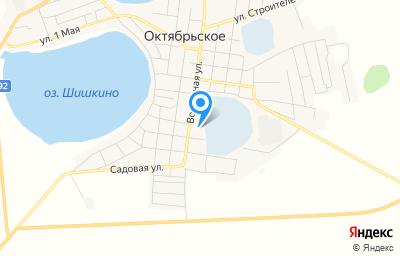 Местоположение на карте пункта техосмотра по адресу Челябинская обл, с Октябрьское, ул Восточная, д 32