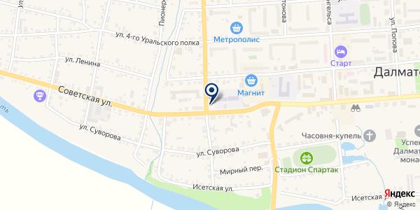 МАГАЗИН ТАНДЕМ-КУРГАН на карте Далматове