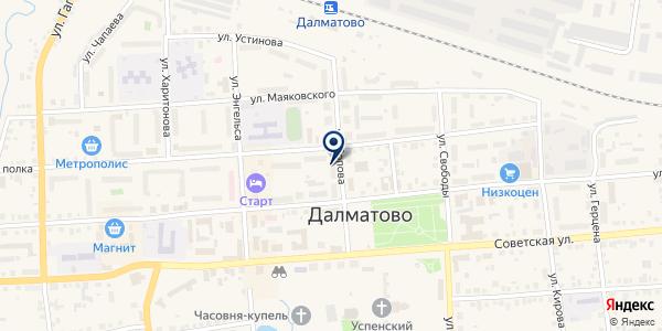 АПТЕКА ФАРМАСЕРВИС на карте Далматове