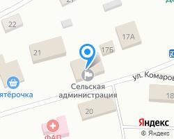 Схема местоположения почтового отделения 624838