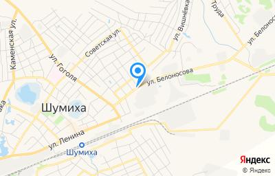 Местоположение на карте пункта техосмотра по адресу Курганская обл, г Шумиха, ул Белоносова, д 22