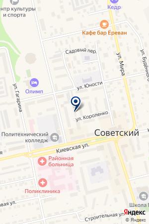 АЗС N 30 ЛУКОЙЛ на карте Советского (Тюмень)