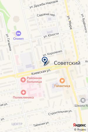АПТЕЧНЫЙ ПУНКТ ЗДОРОВЬЕ на карте Советского (Тюмень)