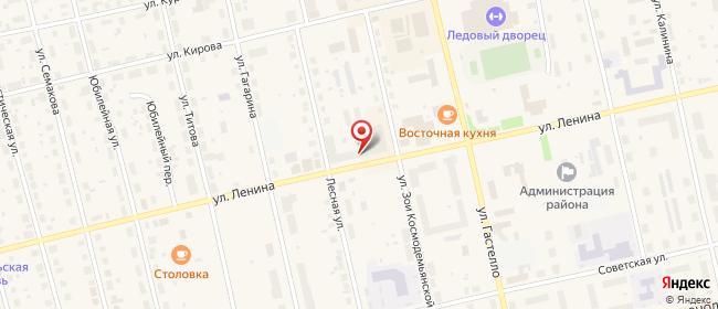 Карта расположения пункта доставки Советский Ленина в городе Советский