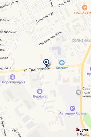 АЗС N 9 на карте Советского (Тюмень)