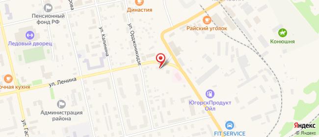 Карта расположения пункта доставки На Ленина в городе Советский