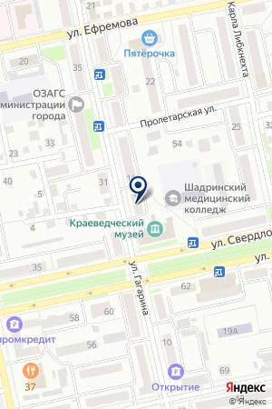 МАГАЗИН АВТОЗАПЧАСТЕЙ ШАРАПОВ А.В. на карте Шадринска