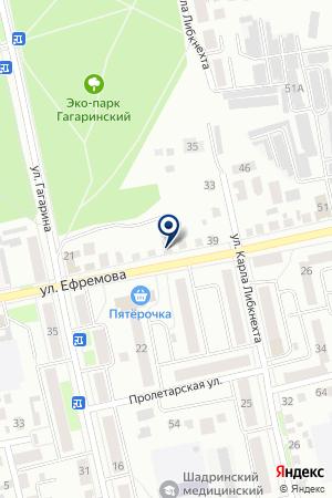 АЗС на карте Шадринска