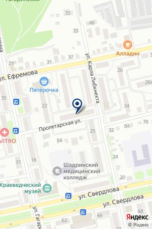 АУДИТОРСКАЯ КОМПАНИЯ АУДИТ-ПРАКТИК на карте Шадринска