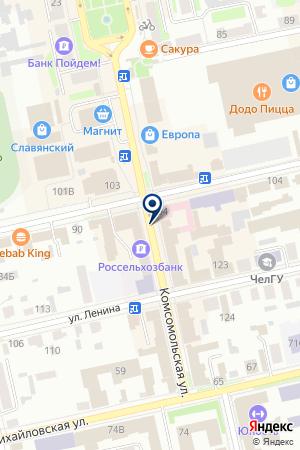 СТРАХОВАЯ КОМПАНИЯ ШАДРИНСКОЕ ОТДЕЛЕНИЕ КУРГАНСКИЙ ФИЛИАЛ на карте Шадринска